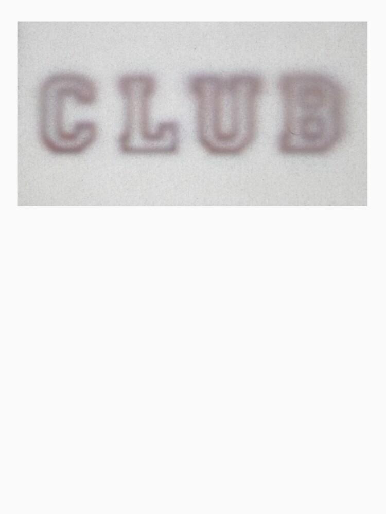 CLUB faded t-shirt by CLUBuniform