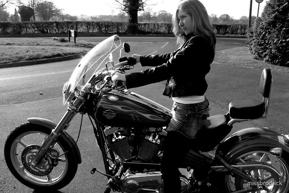 Film Noir Punk Harley Davidson by missbrodrick