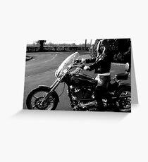 Film Noir Punk Harley Davidson Greeting Card