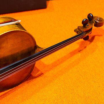 Violin on the Floor [ Print & iPad / iPod / iPhone Case ] by mauriciosantana
