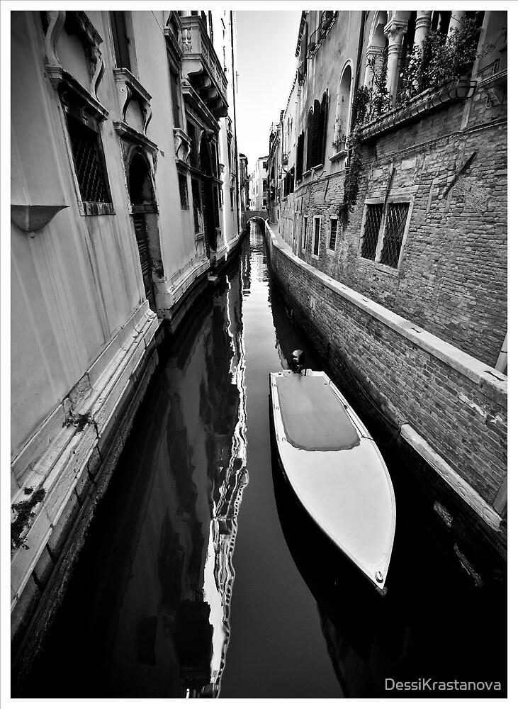 Sleek Boat in B&W by DessiKrastanova