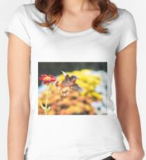 Backlit Women's Fitted Scoop T-Shirt