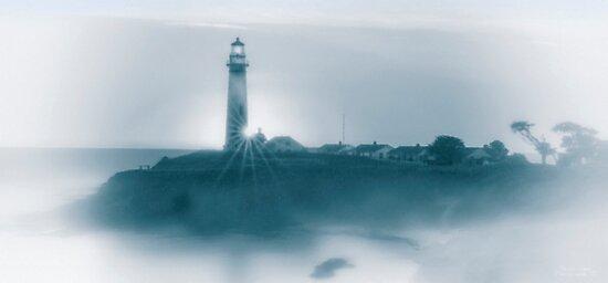 "Misty Cali Coast - Cyanotype by Michael "" Dutch "" Dyer"