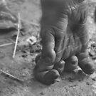 Chimpanzee Hand by xomoosexo