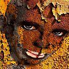 African face in graffiti  by Yvon van der Wijk
