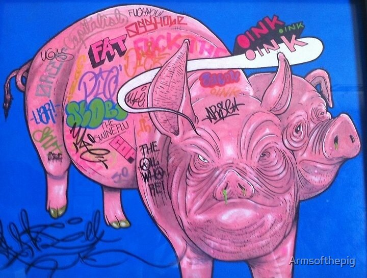 2 Face Pig by Armsofthepig