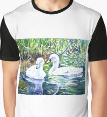 Two Cygnets Graphic T-Shirt