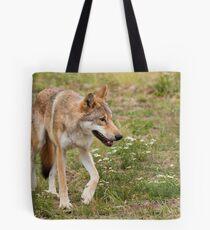 Wolf walking Tote Bag