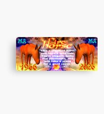 Chinese Zodiac, fire horse, 1966, 2026, born, Canvas Print