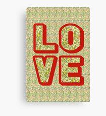 Love Collage Canvas Print