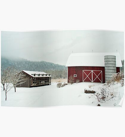 A different view of the barn Poster