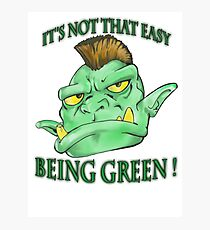 It's not that easy being green! Photographic Print
