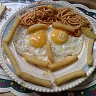 curly egg nd chips  by nutchip
