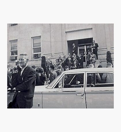 LBJ Declairs WAR ON POVERTY In 1964 Photographic Print