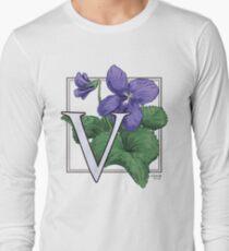 V is for Violet Long Sleeve T-Shirt