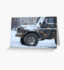truck in the snow Greeting Card