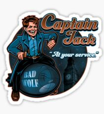Captain Jack Sticker