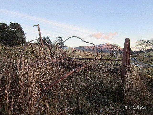 Old hay rake by jmnicolson