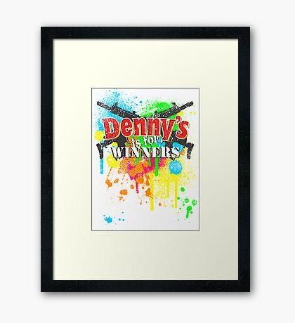 Denny's is for Winners Framed Print