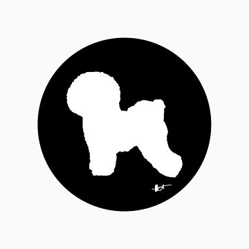 Bichon Frise Silhouette - Classic Black by theresatorres