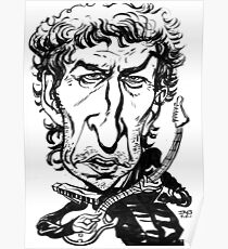 Bob Dylan Caricature Poster