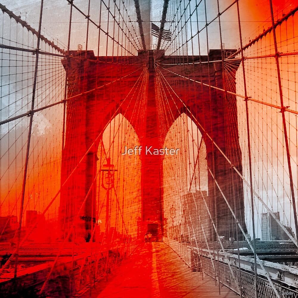 New York City - Brooklyn Bridge by Jeff Kaster