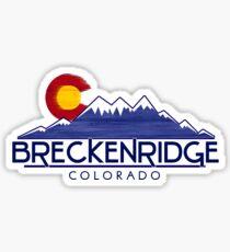 Breckenridge Colorado wood mountains Sticker