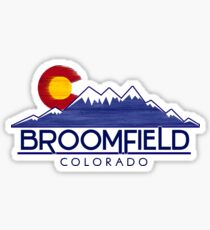 Broomfield Colorado wood mountains Sticker