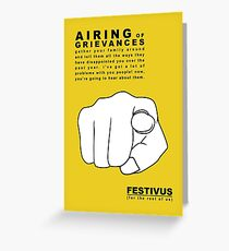 FESTIVUS airing of grievances illustration Greeting Card
