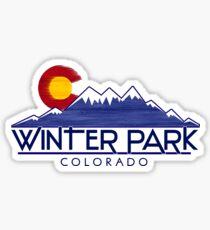 Winter Park Colorado wood mountains Sticker