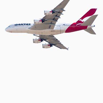 Qantas Airbus A380 plane by stevenpam