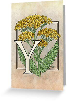 Y is for Yarrow card by Stephanie Smith
