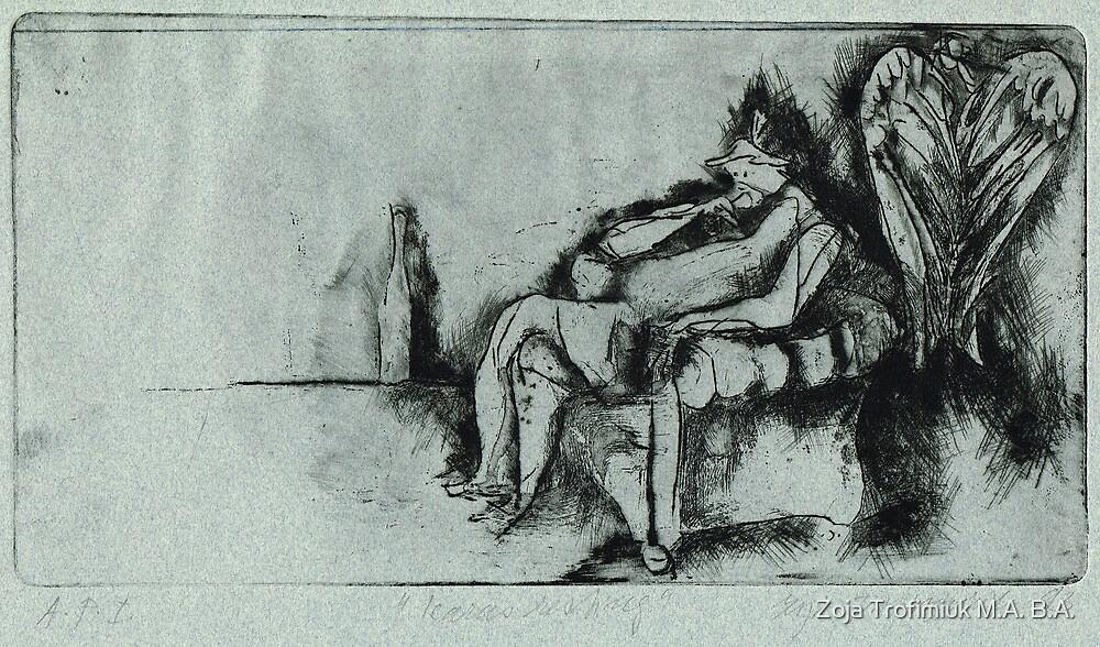 Icarus resting by Zoja Trofimiuk M.A. B.A.