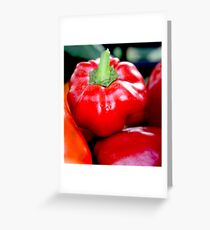 Bell Pepper Greeting Card