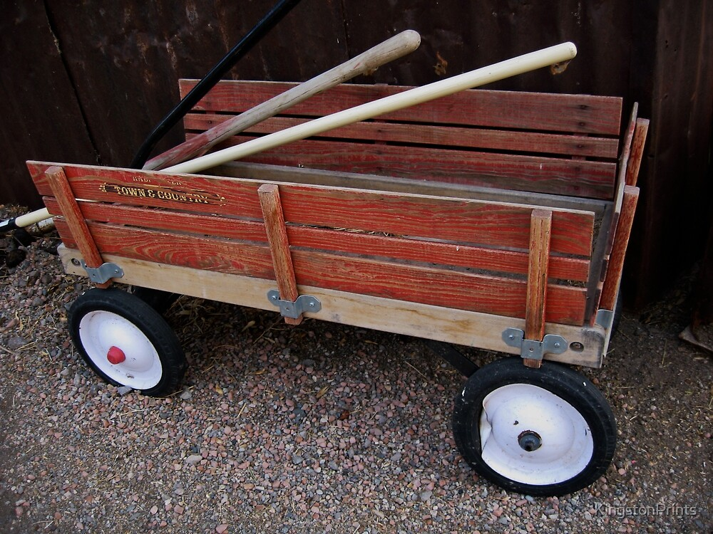 Red Wagon by KingstonPrints