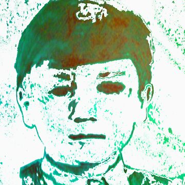 Young John Lennon green by hermies