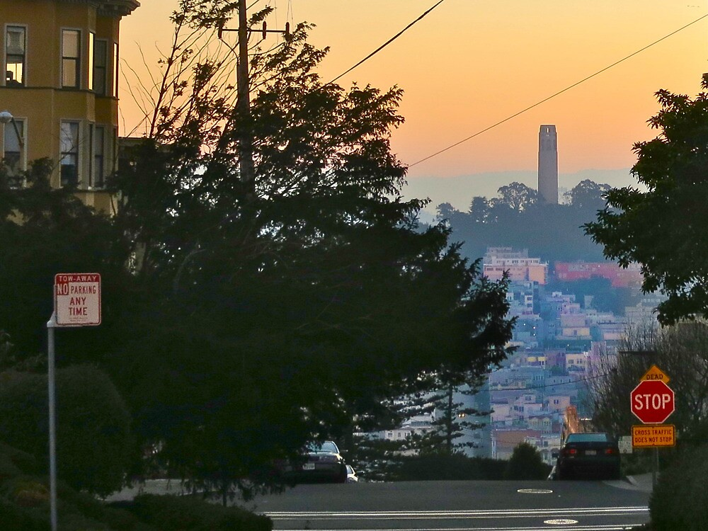 Coit Tower Sunrise by David Denny