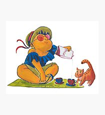 Picknick cat Photographic Print