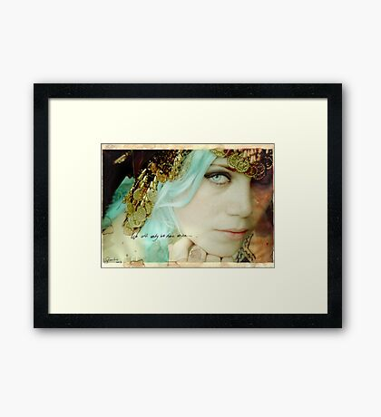 The moment has passed (we will only be here once) Framed Print