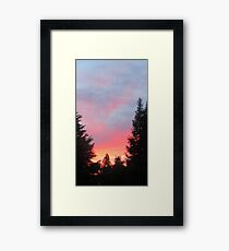 Sunset in the Suburbs  Framed Print