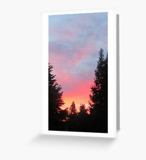 Sunset in the Suburbs  Greeting Card