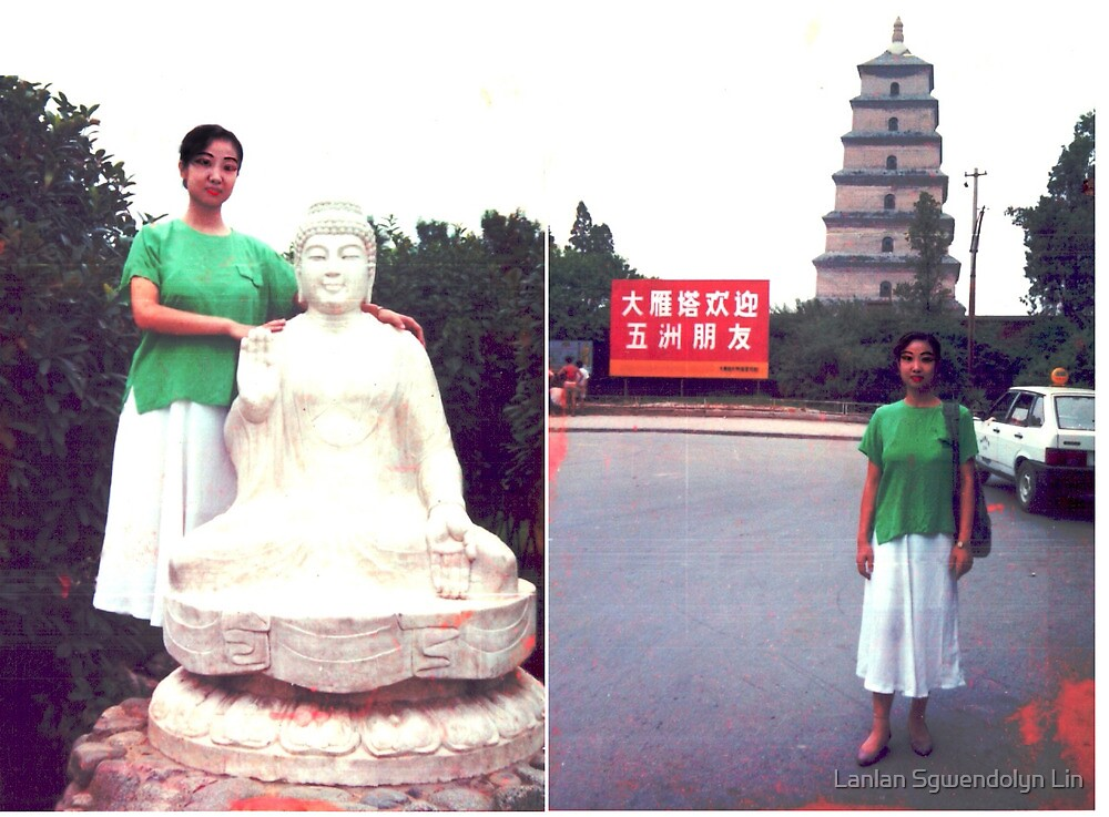 Combien que je suis beaux, heureux, content, parfait, joli, enchante, ivre, travailleur, saga, tant mieux, fier, cueillant, remarquable toujours a Xi-an a 1995. Merci! by Lanlan Sgwendolyn Lin