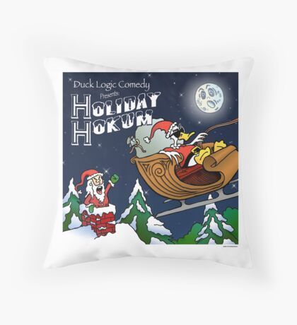 Holiday Hokum CD Cover - Duck Logic Throw Pillow