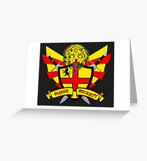Burke Beckett Coat of Arms Greeting Card