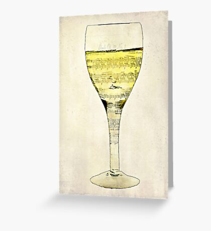 Music is the Wine that Fills the Cup of Silence Greeting Card