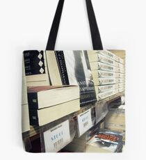 Stacked Books on the Shelf Tote Bag