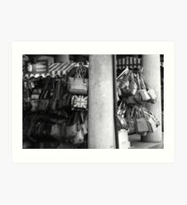 Covent Garden Market Bag Stall Art Print