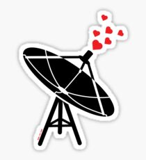 Love Antenna Sticker