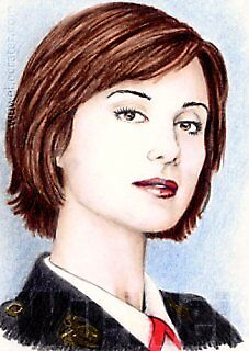 Catherine Bell miniature by wu-wei