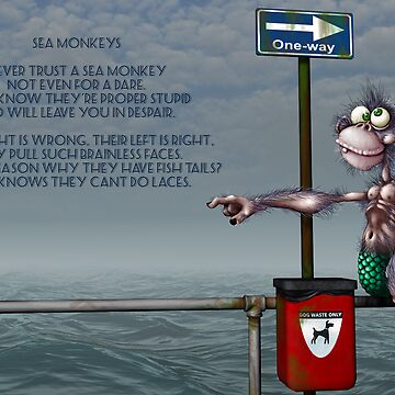 Silly Illustrated Sea Monkey Poem by astralsid
